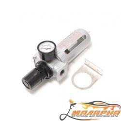 Фильтр влагоотделитель c индикатором давления для пневмосистемы 1/4' FORSAGE