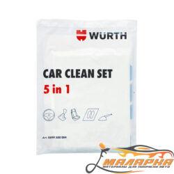 Набор одноразовых защитных покрытий для автомобиля 5 в 1(Сlean Set) WURTH